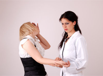 Woman consulting to a specialist