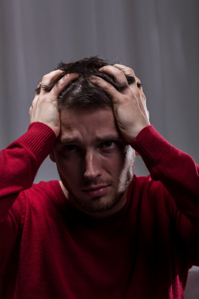 Man suffering from mental problem